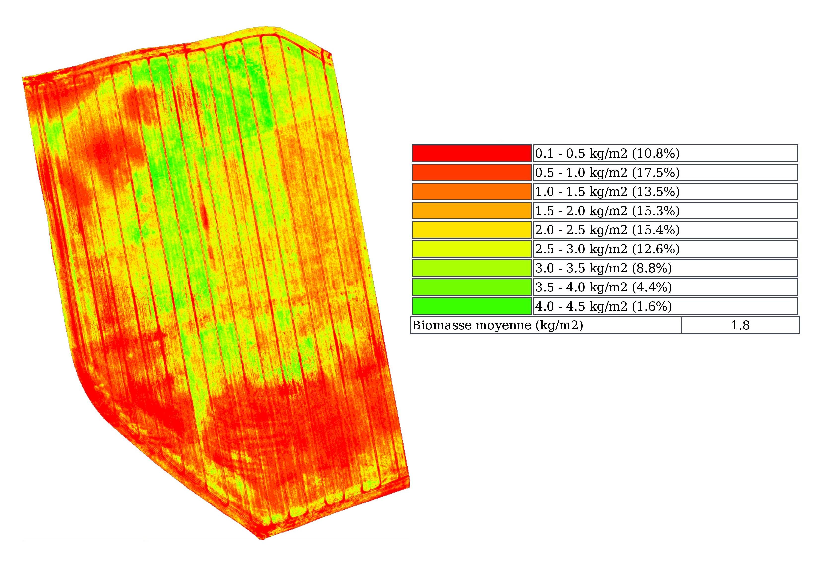 Carte de biomasse drone